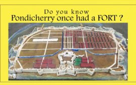 Where is Pondicherry's old fort?