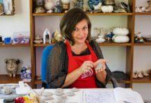 Potter Portraits: Saraswati: Even an abandoned potato peel is a potential inspiration source
