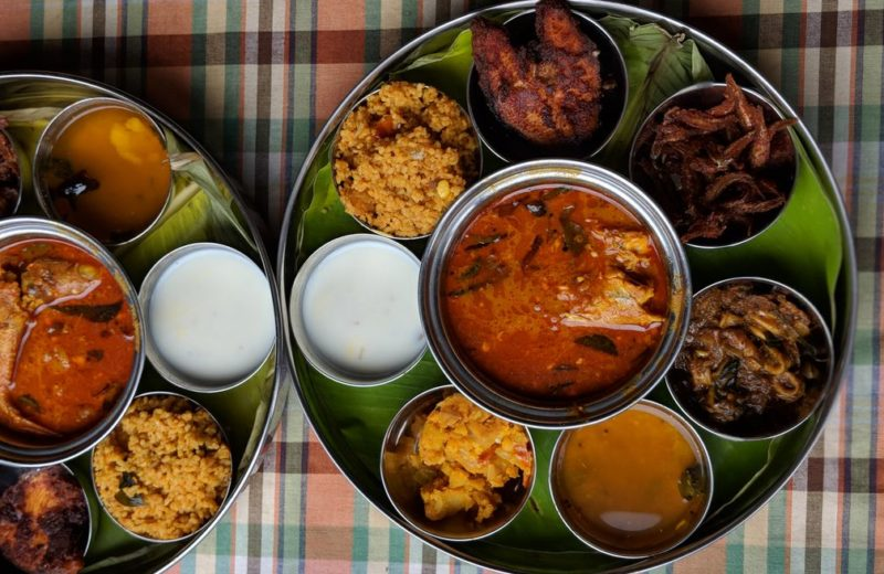 seafood thali at santhi inn in pondicherry