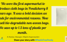#PlasticFreePondy: How supermarkets can make a difference