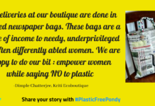 #PlasticFreePondy: Old newspapers turn into bags at this boutique