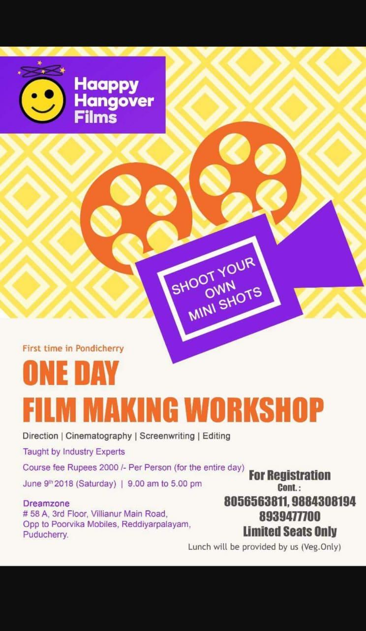 Film Making Workshop Pondy Live