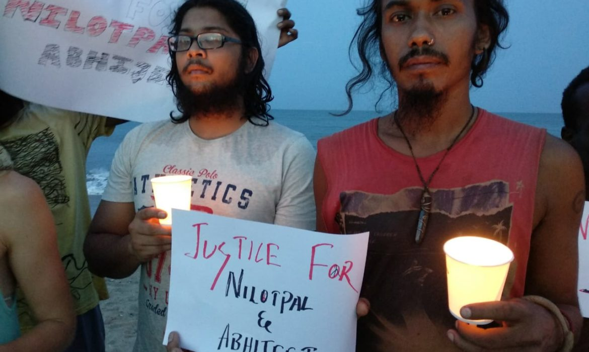 Candlelight vigil on beach to condemn mob lynching of youth in Assam