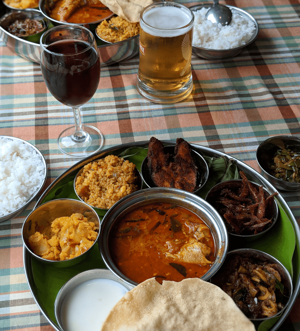 seafood thali in pondicherry at santhi inn