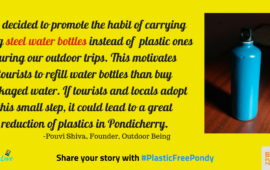 Do this one thing to cut plastic waste drastically in Pondicherry : Outdoor Being