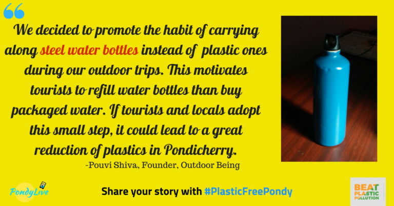 steel bottles are a good way to replace plastic bottles in pondicherry