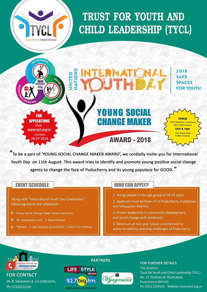 youth social change makers award