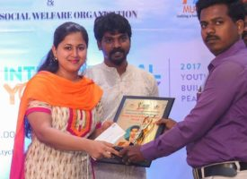 young social change makers award presented by Tycl in puducherry