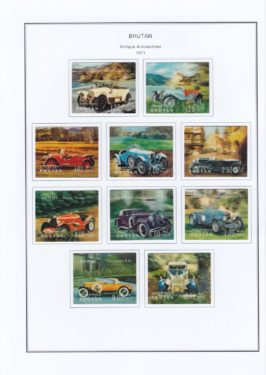 vintage car stamp in pondy stamp, coin and banknote fair 2018