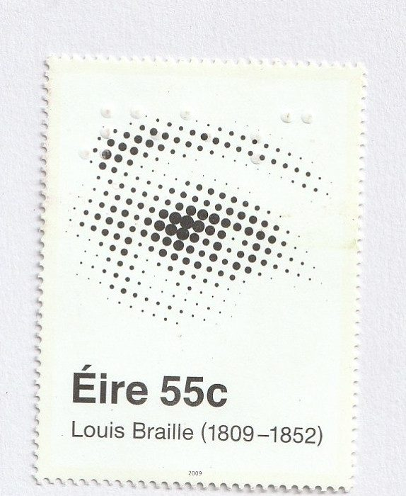BRAILLE STAMP IN PONDY STAMP, COIN AND BANK NOTE FAIR