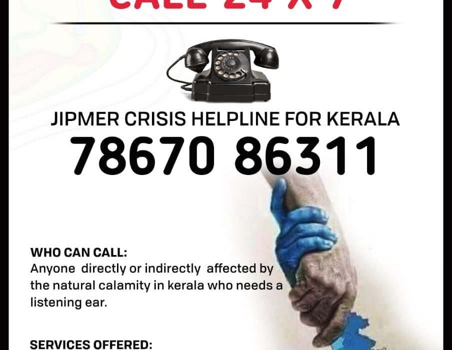 Depressed after the Kerala flood? Call JIPMER Crisis Helpline