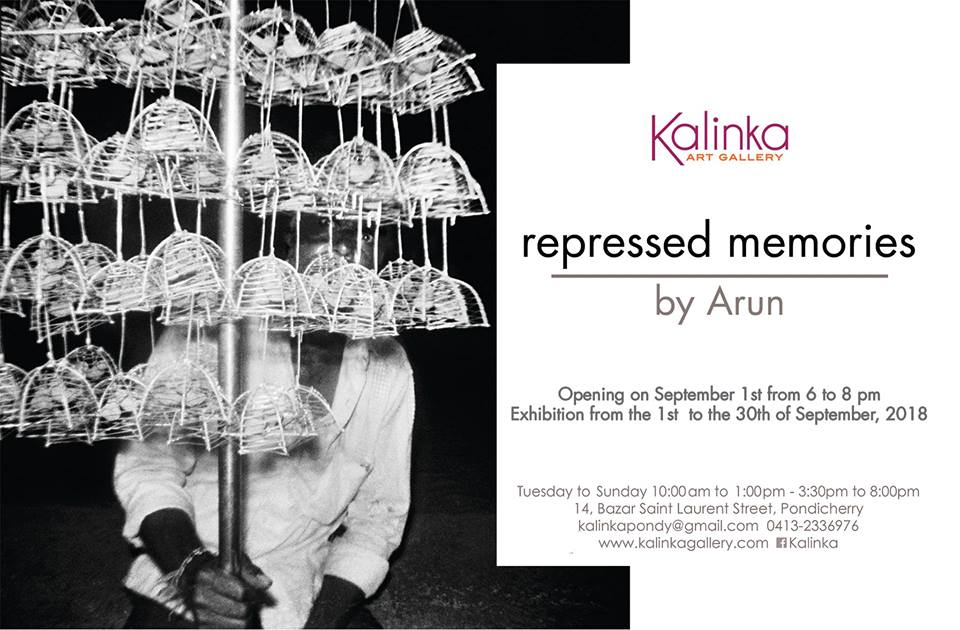 photography exhibition repressed memories by arun at kalinka gallery in pondicherry