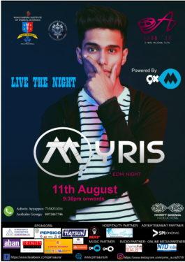 DJ MYRIS EDM NIGHT AT AURA 2018 IN PIMS PONDICHERRY