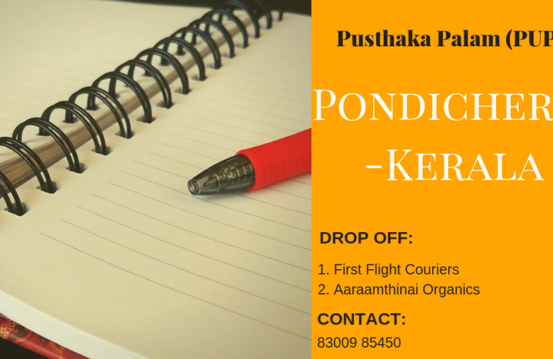 notebooks for children affected by Kerala floods from pondicherry through pusthaka palam pupa, an initiative from pondicherry