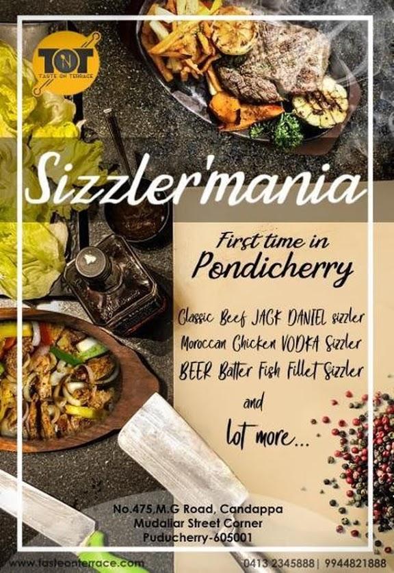 sizzlermania on taste on terrace