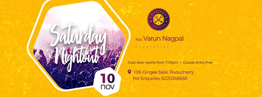 Varun Nagpal dj commercial saturday nightout at Pondicherry