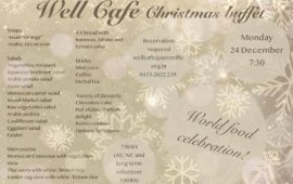 Well Cafe Christmas buffet