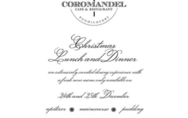 Christmas Lunch & Dinner @ Coromandel Cafe
