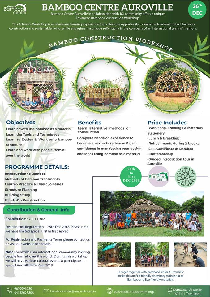 Bamboo Construction Workshop