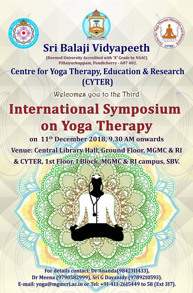 3rd International Symposium on Yoga Therapy 2018