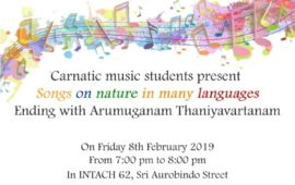 Pondicherry Heritage Festival- Songs of Nature