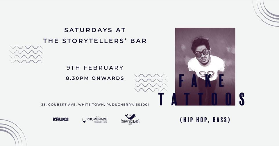 Saturdays ft Fake Tattoos at The Storytellers Bar, Pondicherry