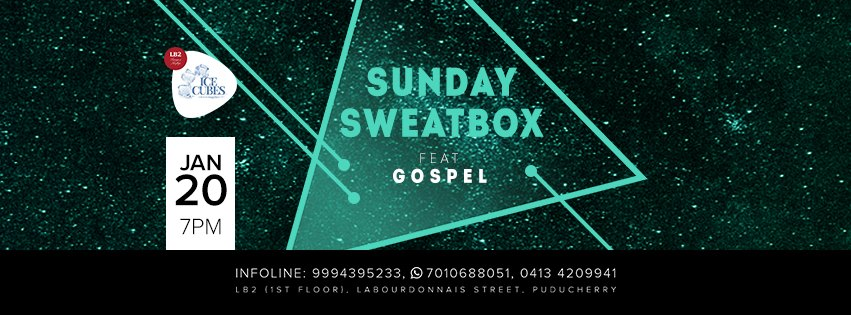 Sunday SweatBox on Jan 20 with DJ Gospel