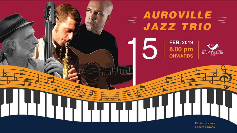 Friday Night : Auroville Jazz Trio at The Storytellers Bar
