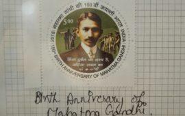 Pondicherry pays philatelic tribute to Gandhi on 150th birth anniversary