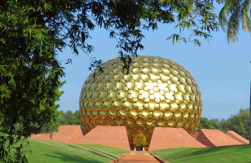 matrimandir in auroville during the Auroville Marathon