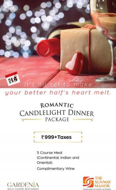 Romatic Candle Light Dinner at Sunway Manor