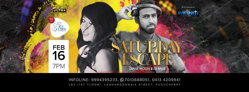 Saturday Escape on 16 Feb with DJane Moon & DJ Balie