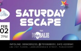 Saturday Escape with DJ Balie