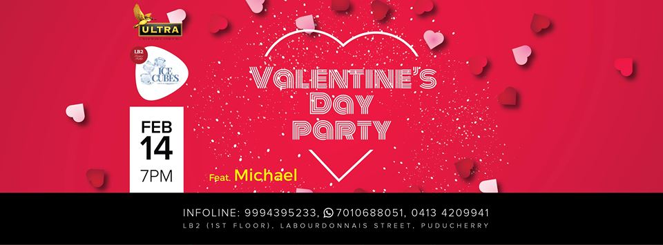 to Valentine's Day Party on Feb 14 at Ice Cubes club