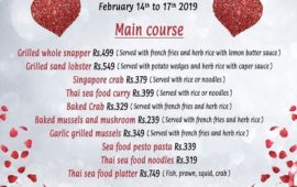 Valentine's Sea Food Menu