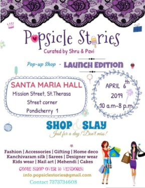 Popsicle Stories Pop up Shop - Launch edition
