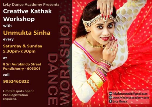 Learn the technique of Kathak as well as Semi-Classical choreographies set to popular Bollywood songs!! Open for all ages. All you need is intense passion to dance!!