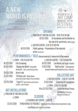 Auroville Art Camp and Festival 2019. Artists from all over India and Aurovilian Artists