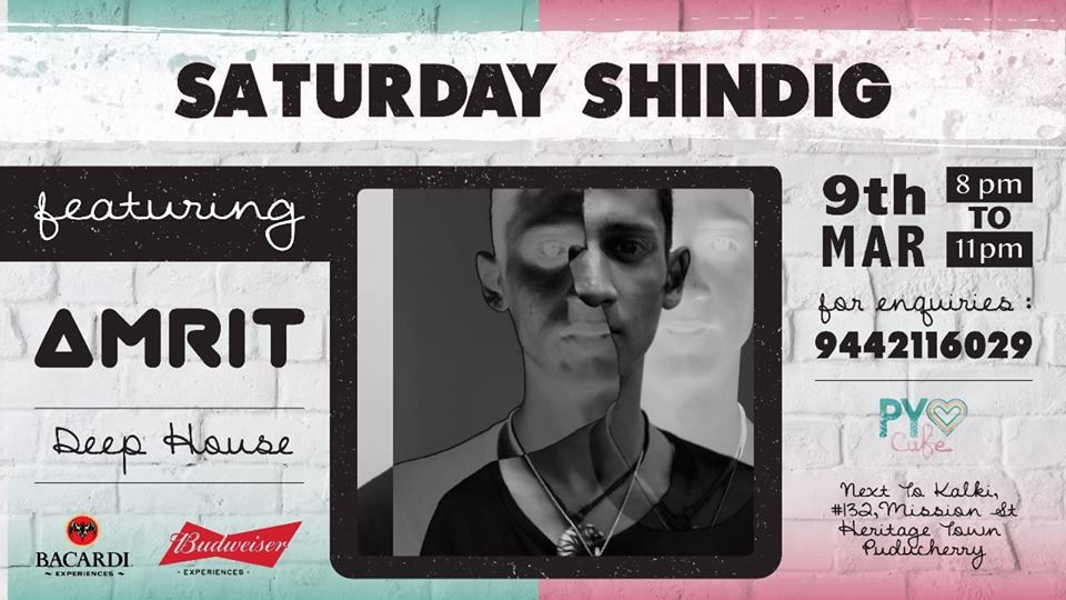 This Saturday we have Amrit Kishan from Chennai who will be playing a juicy live Deep House DJ set.