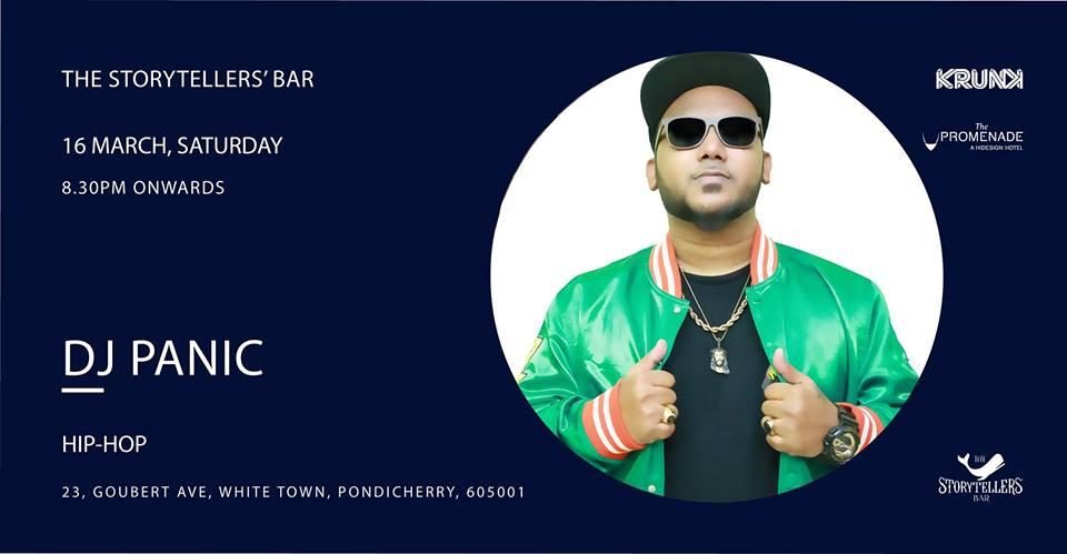 Saturdays ft Dj Panic at The Storytellers' Bar, Pondicherry