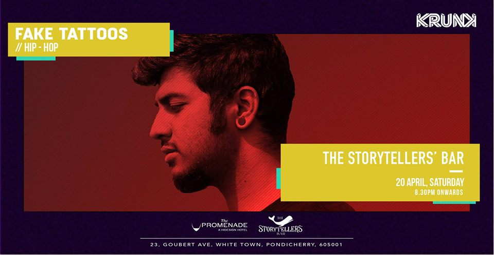 Saturdays ft Fake Tattoos at The Storytellers Bar | Pondicherry