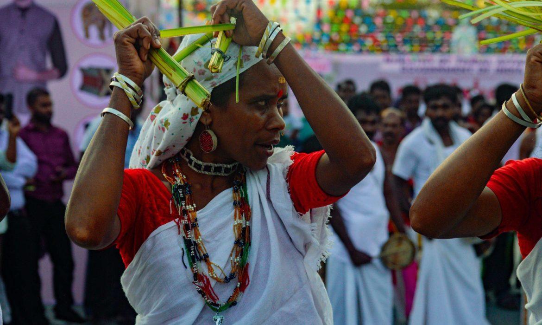 VATTAKALI KERALA FOLK DANCE AT Aadi Mahotsav national tribal craft expo showcases handmade ethnic products made by tribes from various states of india