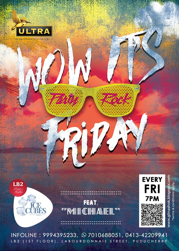 Wow, It's Friday at Ice Cubes Club (LB2 Lounge) on - 7pm onwards with DJ MICHAEL