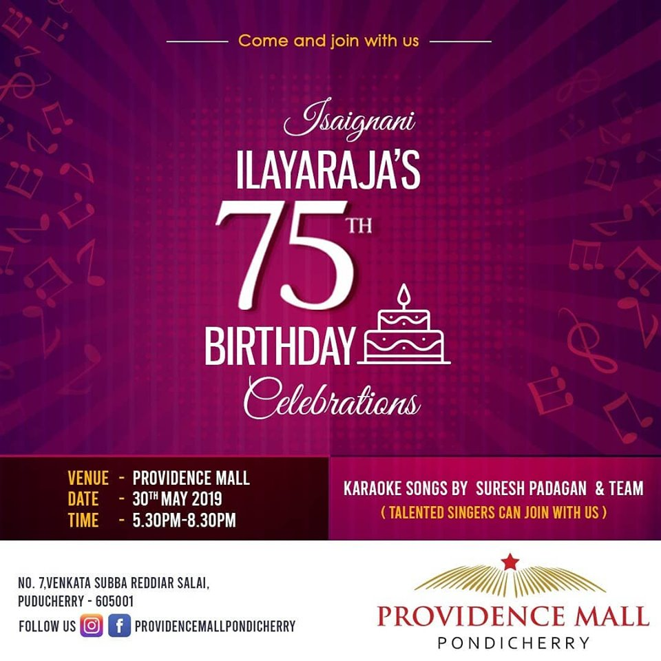 Maestro Ilayaraja's 75th Birthday