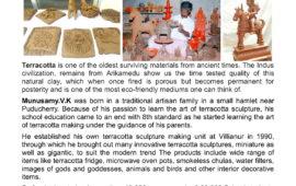Terracotta Workshop by Munusamy