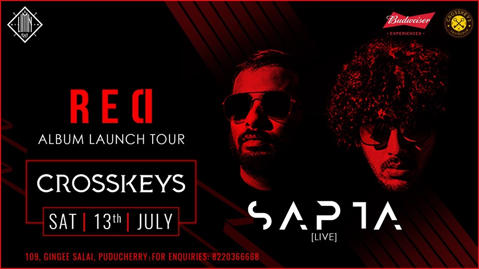 Sapta Live-Electronic act on 13 July at Crosskeys