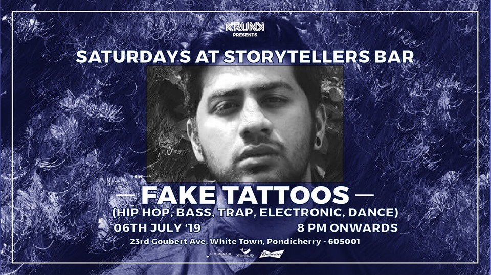 Saturdays ft Fake Tattoos at The Storytellers Bar | Pondicherry