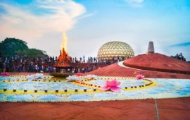 AUROVILLE'S AUGUST 15th BONFIRE