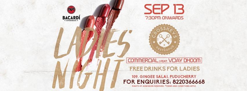 Ladies Night - Commercial, ft. DJ Vijay Dhoom on 13 September