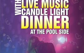 Saturday Live music with candlelight dinner by the pool